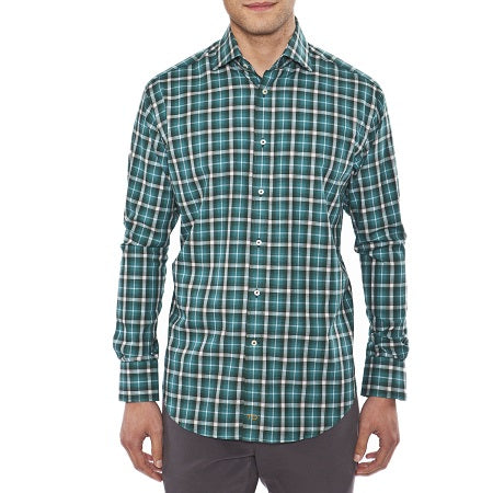 TD Green Plaid Sport Shirt - Untucked