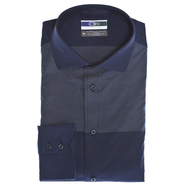 C3 Blue Stripe Performance Sport Shirt - Thomas Dean & Co