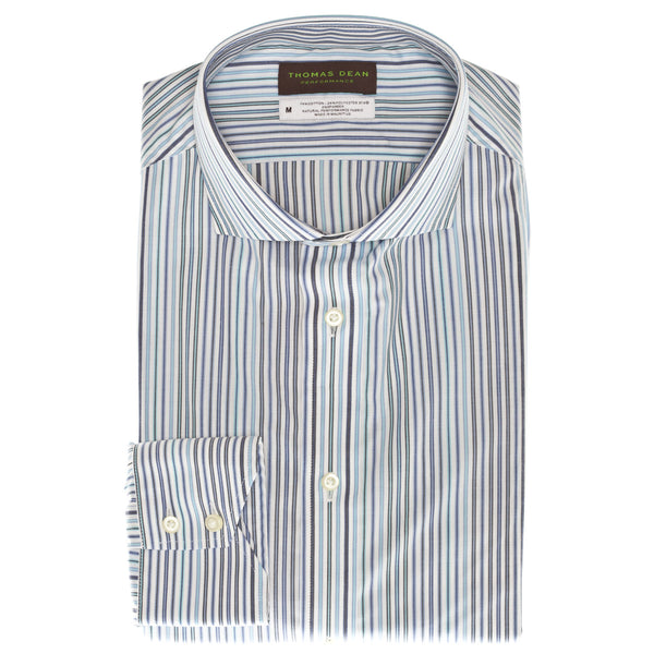 Blue Performance Sport Shirt - Thomas Dean & Co