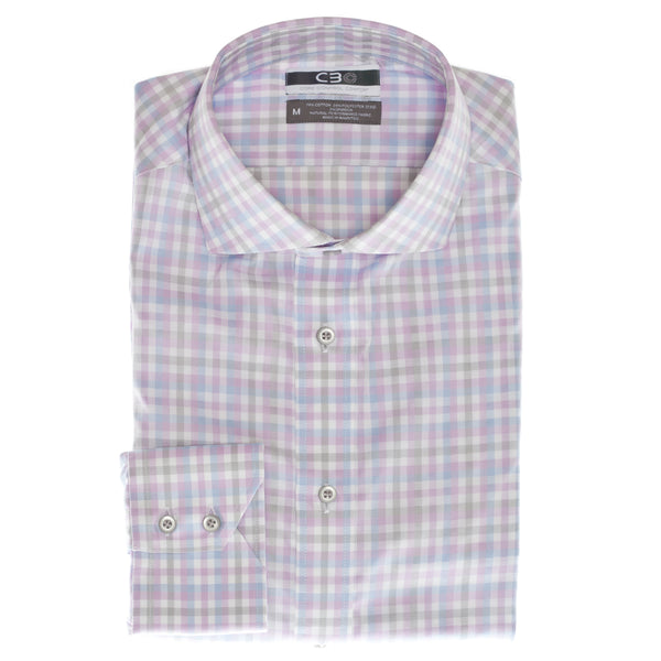 Pink Check Core Control Comfort Collar Sport Shirt