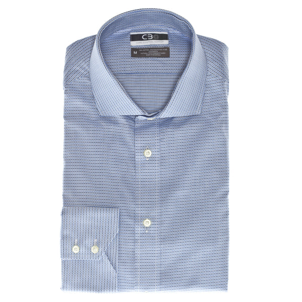 Blue Check Core Control Comfort Collar Sport Shirt