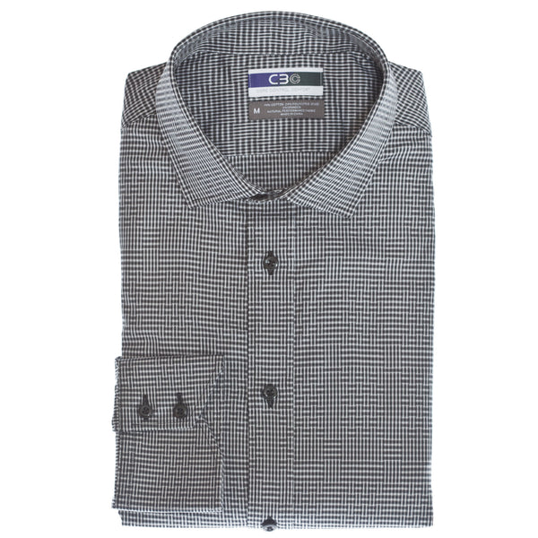 C3 Black Basket Weave Performance Sport Shirt - Thomas Dean & Co