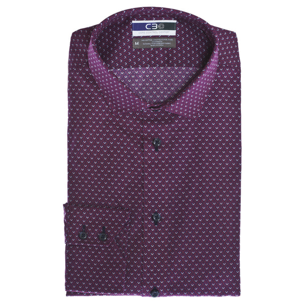 C3 Red Triangle Print Performance Sport Shirt - Thomas Dean & Co