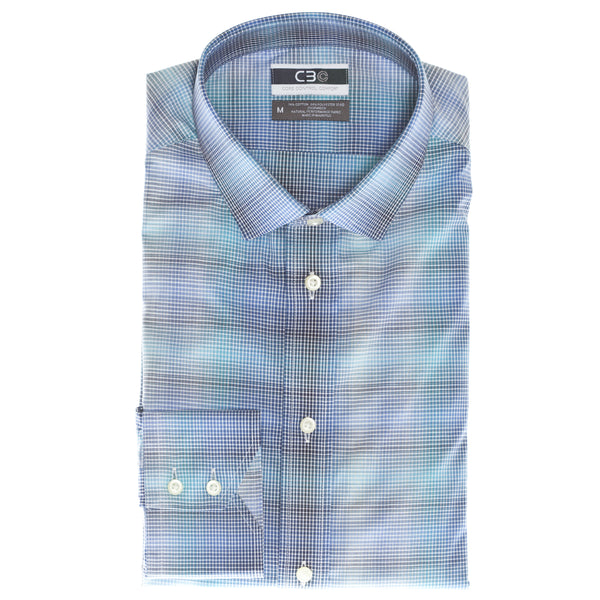 Blue Check Core Control Comfort Sport Shirt
