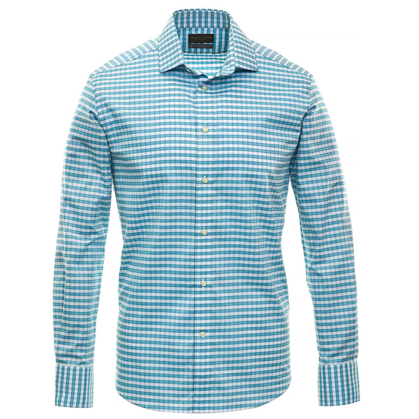Mint Check Performance Sport Shirt - Thomas Dean & Co