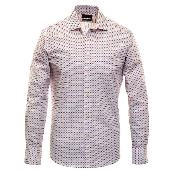 Pink Print Performance Sport Shirt - Thomas Dean & Co