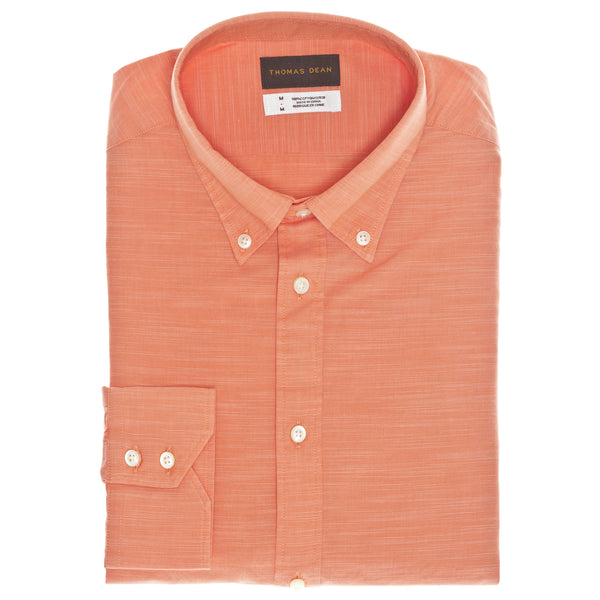 Coral Solid Sport Shirt - Thomas Dean & Co