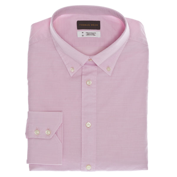 Pink Solid Sport Shirt - Thomas Dean & Co