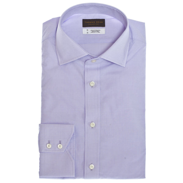 TD Collection Purple Large Check Button Down Sport Shirt - Thomas Dean & Co