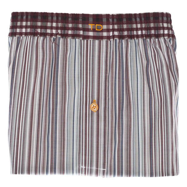 Grey Stripe Boxer Short - Thomas Dean & Co