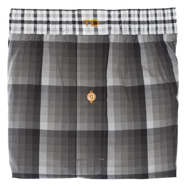 Black Check Boxer Short - Thomas Dean & Co
