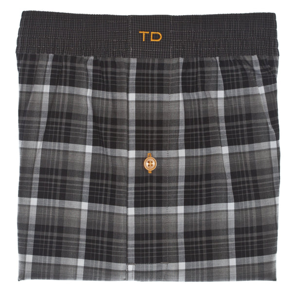 Grey Check Boxer Short - Thomas Dean & Co
