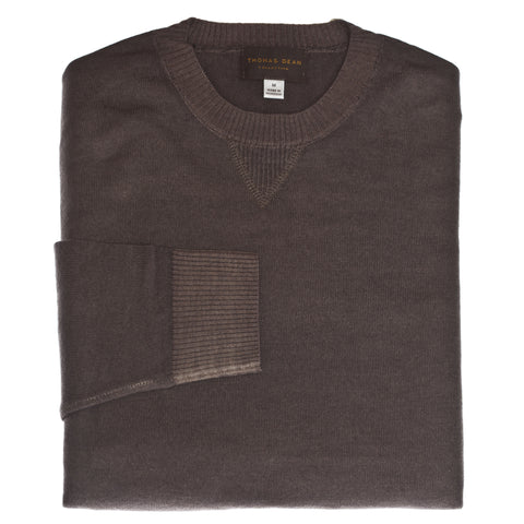 Taupe Crew Neck Sweater