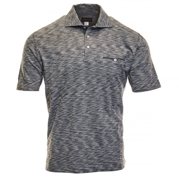Charcoal Cotton Polo - Thomas Dean & Co
