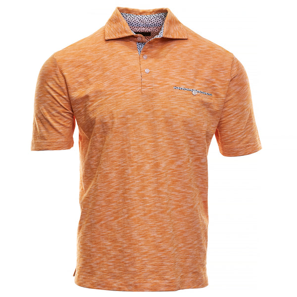 Pop Orange Cotton Polo - Thomas Dean & Co