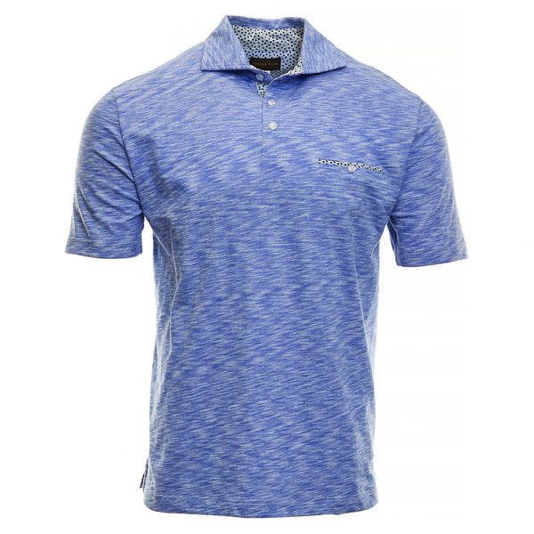 Ultramarine Cotton Polo - Thomas Dean & Co