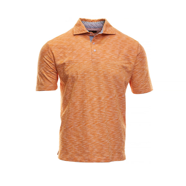 Orange Cotton Polo - Thomas Dean & Co