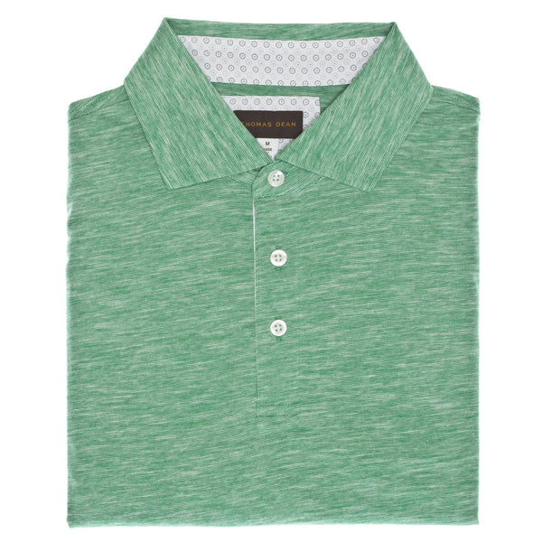 Green Cotton Polo - Thomas Dean & Co