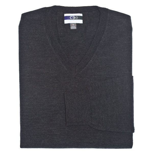 C3 Charcoal V-Neck Sweater - Thomas Dean & Co
