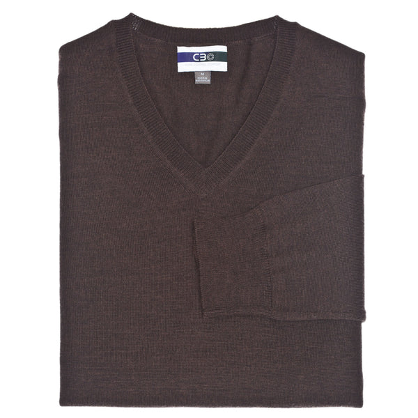 C3 Taupe V-Neck Sweater - Thomas Dean & Co