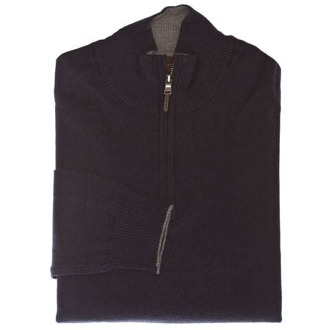 Navy 1/4 Zip Sweater - Thomas Dean & Co.