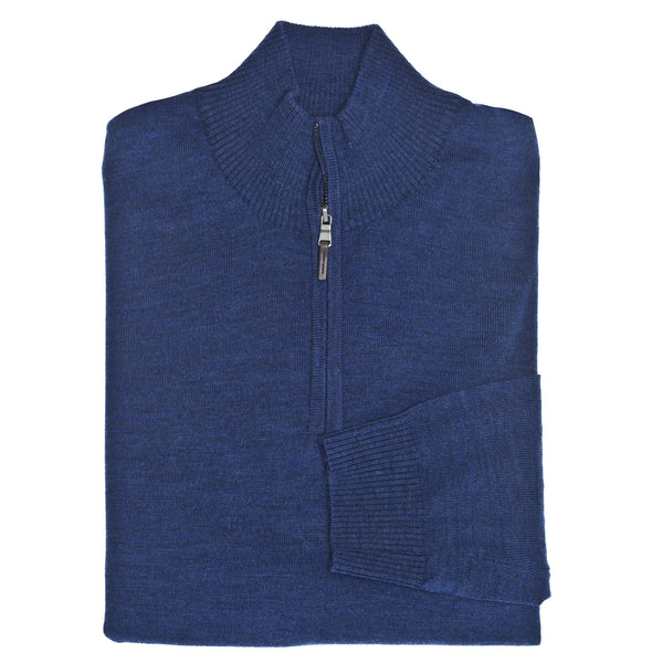 C3 Blue 1/4-Zip Sweater - Thomas Dean & Co