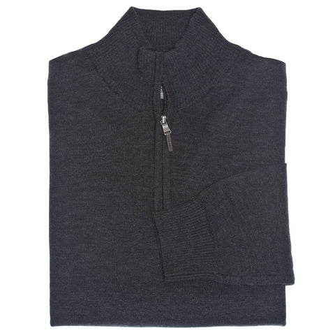 C3 Charcoal 1/4-Zip Sweater - Thomas Dean & Co