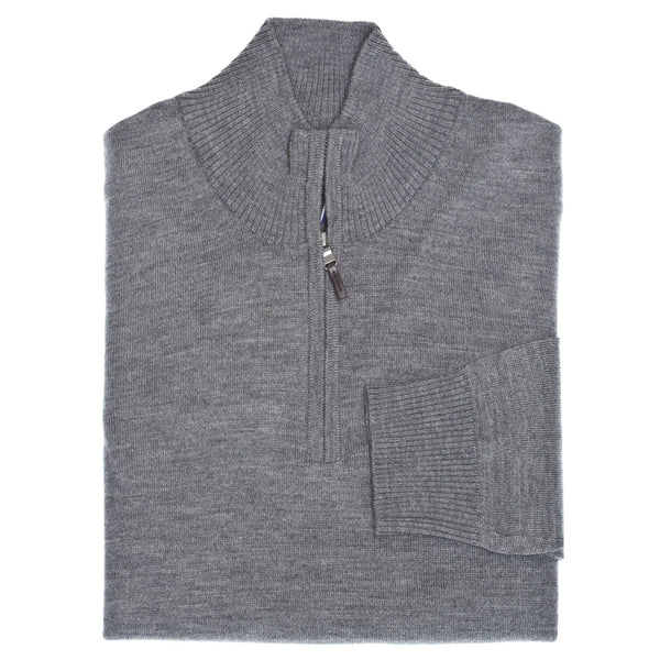C3 Grey 1/4-Zip Sweater - Thomas Dean & Co