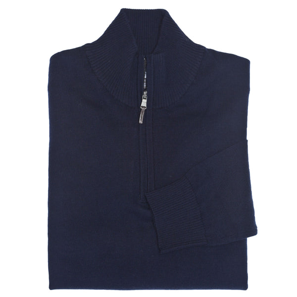 C3 Navy 1/4-Neck Sweater - Thomas Dean & Co