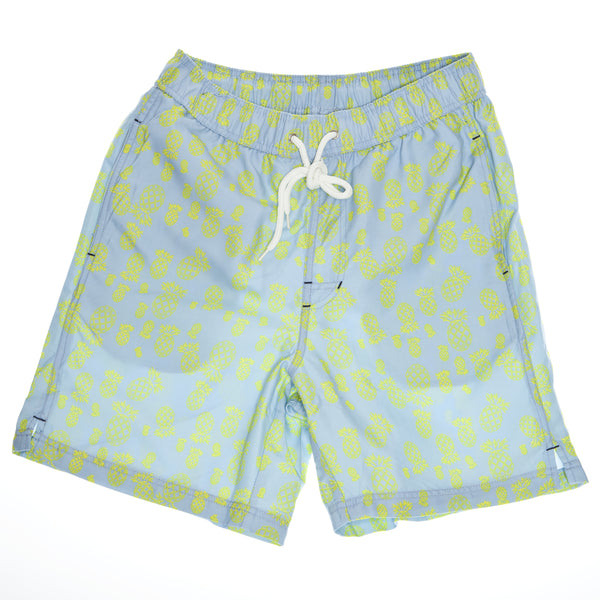 Light Blue Pineapple Print Board Short