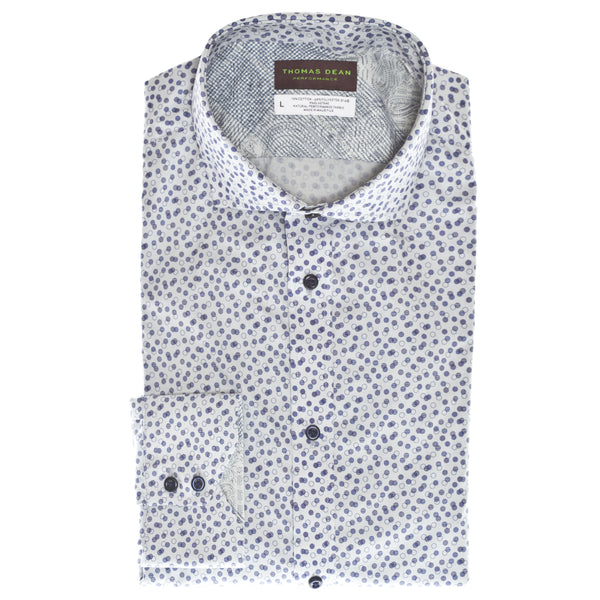 Blue Circle Dot Performance Sport Shirt - Thomas Dean & Co