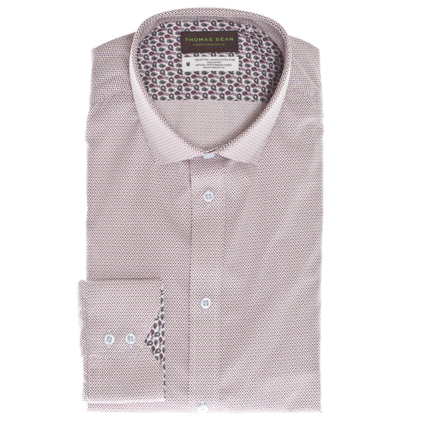 Wine Print Performance Sport Shirt - Thomas Dean & Co