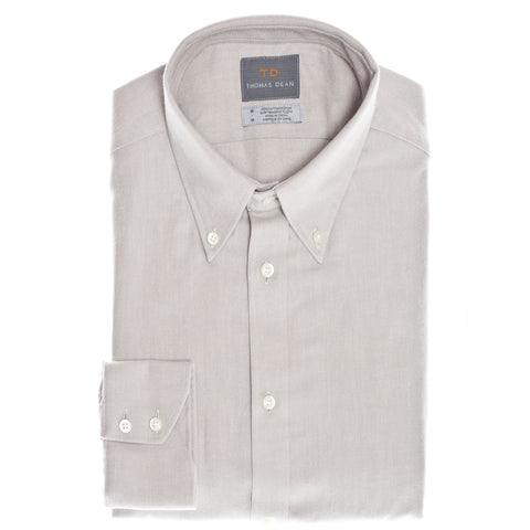 Light Grey Tonal Button Down Collar Sport Shirt