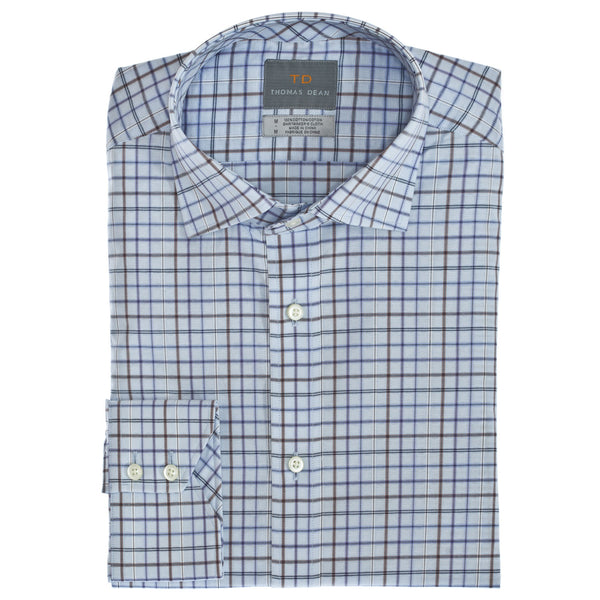Purple Gingham Button Down Sport Shirt