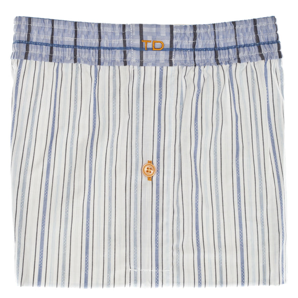 Blue Stripe Boxer Short - Thomas Dean & Co