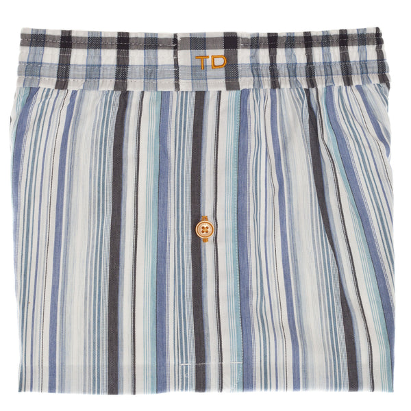 Aqua Stripe Boxer Short - Thomas Dean & Co