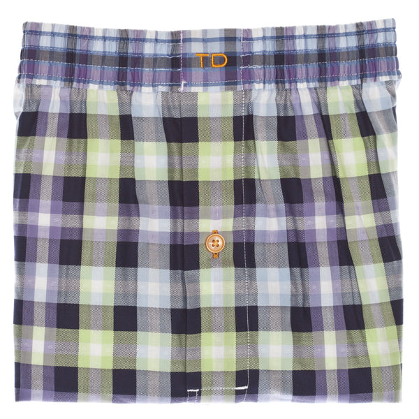 Purple Check Boxer Short