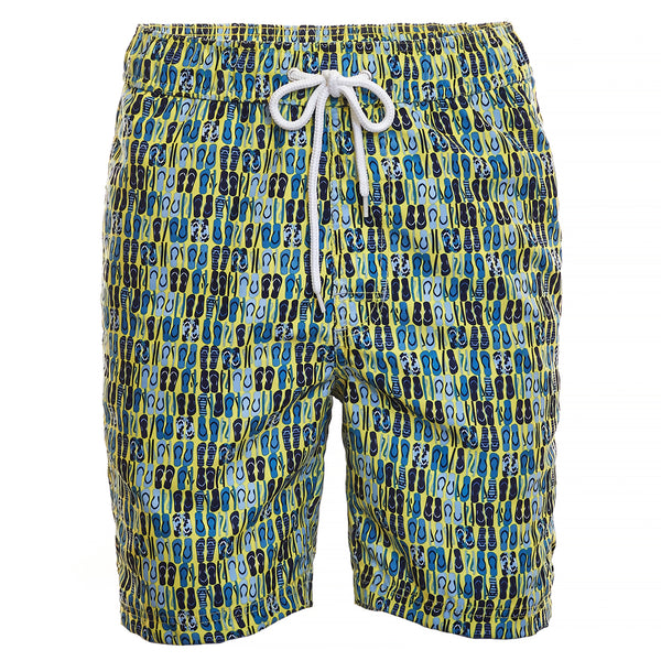 Yellow Sandal Print Board Short