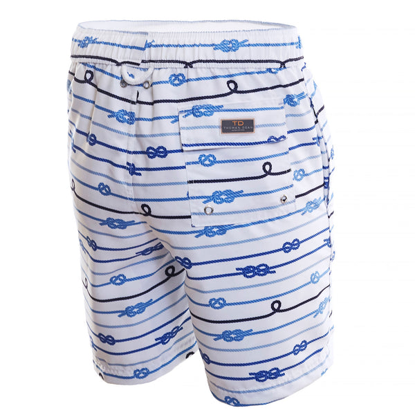 Blue Knot Print Board Short - Thomas Dean & Co