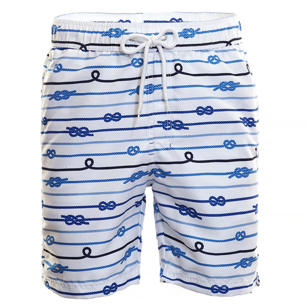 Blue Knot Print Board Short