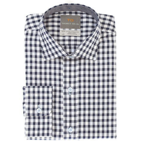 Big Boys Blue Check Button Down Shirt