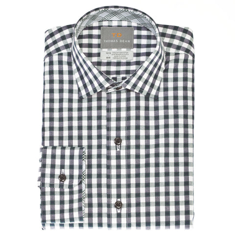 Big Boys Pine Gingham Button Down Shirt