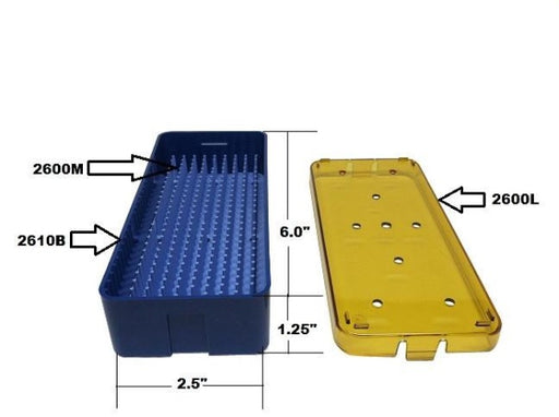 PST Instrument Trays 2.5'' x 6'' x 1.25'' (2610A)