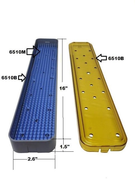 PST Instrument Trays 2.6'' x 16'' x 1.5'' (6512A) (With Mat)