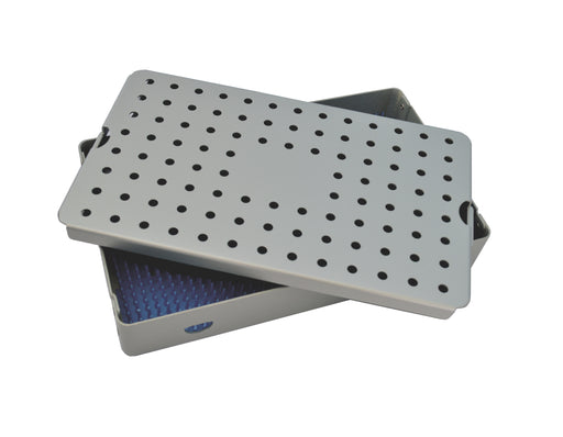 Aluminum Sterilization Tray Large 10'' L X 6'' W X 3.25'' H Deep Single Layer - A4220