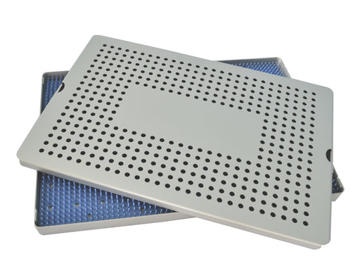 Aluminum Sterilization Tray Extra Large Single Layer 15'' L X 10'' W X 0.75'' H - CalTray A7000
