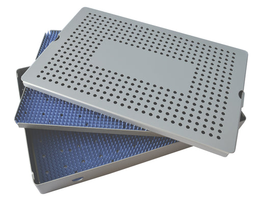 Aluminum Sterilization Tray Extra Large Deep Double Layer 15'' x 10'' x 1.5'' - CalTray A7100
