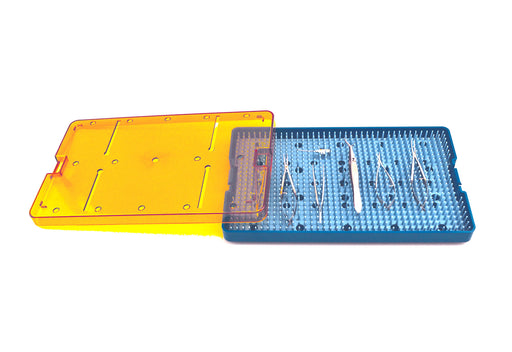 Plastic Sterilization Trays Size L 10'' x W 6'' x H 0.75'' For  Micro Surgical Instruments