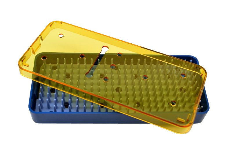 Plastic Sterilization Trays Size L 6'' x W 2.5'' x H 0.75'' For  Micro Surgical Instruments