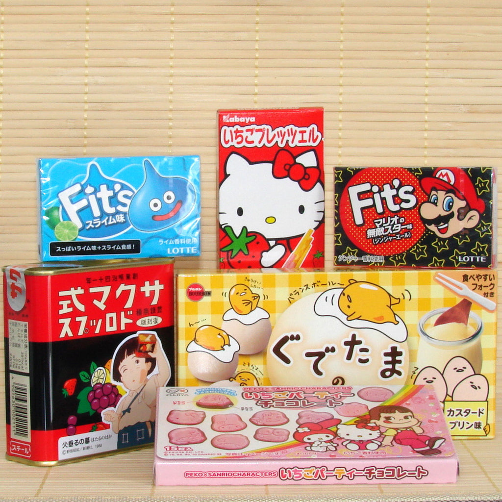 Japanese Character Themed Candy & Snacks